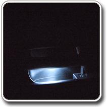 LED világítás autóba, ajtózseb