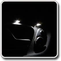 LED világítás autóba, kilincsfény