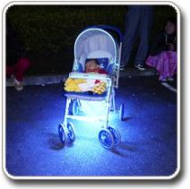 LED világítás autóba és babakocsiba