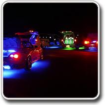 Színes LED világítás autóba