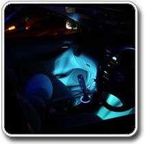 belső LED világítás autóba